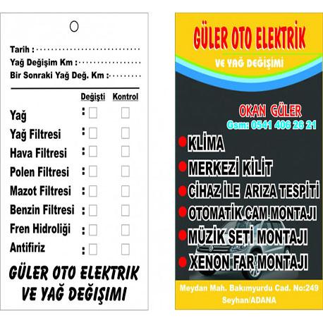 ÖN RENKLİ PARLAK SELEFONLU ARKASI TEK RENK SİYAH BASKILI 8x10TAKSİT KARTI